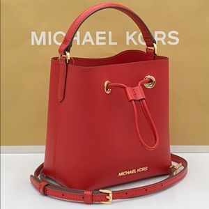 MICHAEL KORS SURI SMALL BUCKET XBODY FLAME